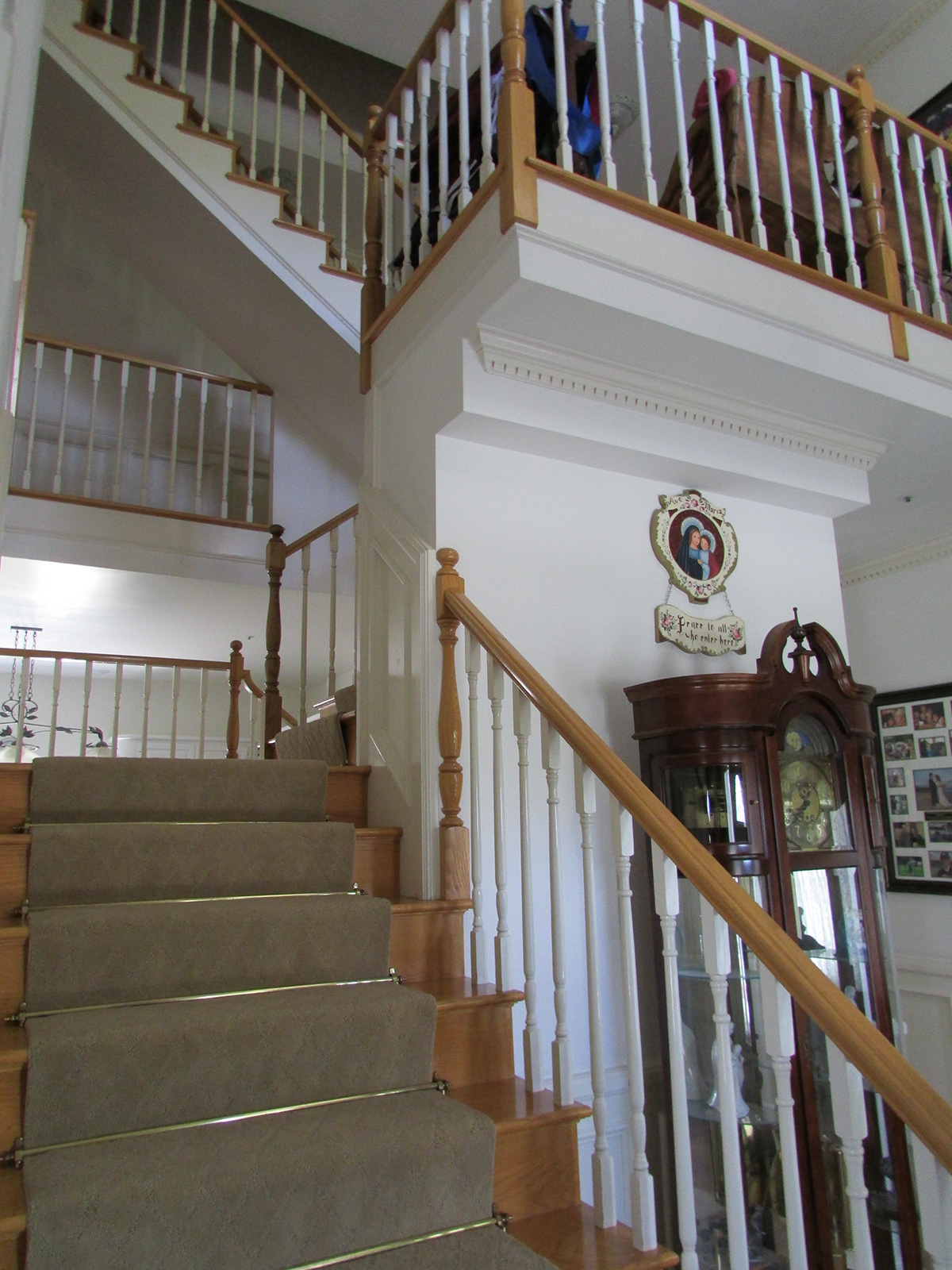 Front entrance staircase view
